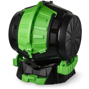 Tumbling Barrel Composter 50 Litres With Liquid Drawer Rotating Garden Bin Waste