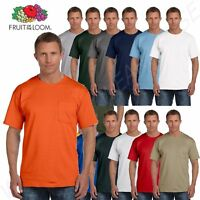 Fruit of the Loom Men's 5 oz 100% Cotton Pocket S-3XL T Shirt M-3931P