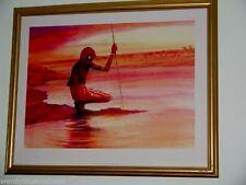 The Askari (Swahili Keeper) by Jonathon Sanders Framed Print 55x45cm Gold Finish