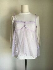 1290.BNWT!axes femme lavender lace camisole&simple cream color turtleneck tops