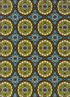 """5x8 Sphinx Patio Circles Casual Blue 8328L Outdoor Area Rug - Approx 5'3"""" x 7'6"""""""