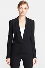 MSRP $1650 Michael Kors Women's Black Italian Virgin Wool Blazer Jacket, US 4