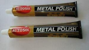 2 x AUTOSOL CHROME & METAL CLEANER & POLISH THE ORIGINAL & BEST 2 pack