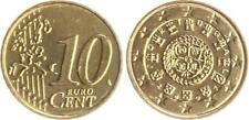 Portugal 10 Cent Kursmünze 2007 prägefrisch Kleinstauflage, sehr selten !