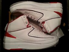 2008 Nike Air Jordan 2 II Retro White Red CDP Size 13. 308308-162 1 3 4 5 6 8 9