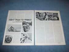1971 Harley-Davidson Super Glide Night Train Vintage Info Article