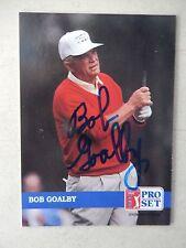 Bob Goalby Autographed 1992 Pro Set Golf Card