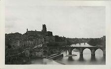 PHOTO ANCIENNE - VINTAGE SNAPSHOT - ALBI PONT - BRIDGE 1934