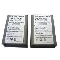 2X battery for Olympus BLN-1 BLN1 E-P5 E-M1 E-M5 OM-D EM5II PEN-F