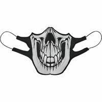⚫Totenkopf Skull Head Maske💀 Biker Rocker Mehrweg Mund-Nasenschutz➤60° waschbar