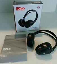 BOSS AUDIO IR Foldable Wireless Headset HP12 Black New Infrared Headphones