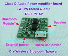 3.7-5V Micro USB Class D Dual Channel Audio Amplifier Board 5W DIY Bluetooth Amp