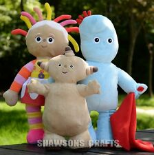 IN THE NIGHT GARDEN PLUSH TOYS SET UPSY DAISY IGGLE PIGGLE MAKKA PAKKA 3 DOLLS