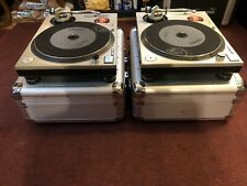 Technics SL-1200mk2  Direct Drive Turntables x 2 (Pair) w/ Road cases & Slipmats