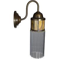 Wandlampe Lampe Wandleuchter Messing Glas Art Deco Jugendstil Glamour Antik