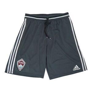 Colorado Rapids MLS Adidas Men's Logo Patch Dark Grey Adizero Practice Shorts