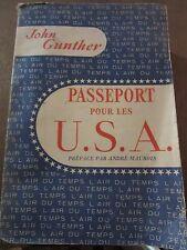 John Gunther: Passeport pour les U.S.A/ Gallimard L'Air du Temps