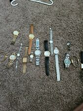 Lot Of 15 Vintage Watches; Citizen, Seiko, fossil, Bulova, Coach; NOT WORKING