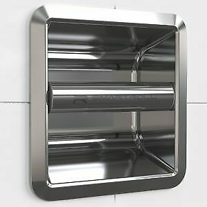 SmartRoll CHROME Low Profile Magnetic Modern Stylish Recessed Toilet Roll Holder