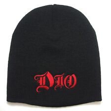 DIO embroidery Beanie hat  ( red logo ) official   Music Band .