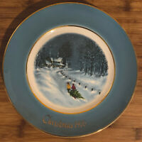 ⭐️Avon Wedgwood  New old Stock Christmas Bringing Home The Tree 1977 ⭐️