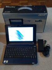 Blue Acer Aspire One ZG5  a150 120GB HDD upgraded to 1.5GB RAM, used item