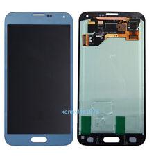 Para Samsung Galaxy S5 G900F G900A G900V G900P G900T/H Pantalla LCD Táctil azul