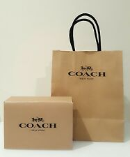 Authentic Coach Gift Bag + Gift Box And Tissue