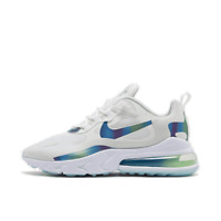 Men's Nike Air Max 270 React 20 Running Shoes Summit White/Multi Color/Platinum