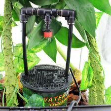 Reptile Water Drinking Dripper Pet Lizard Dispenser Terrarium Habitats Feeder