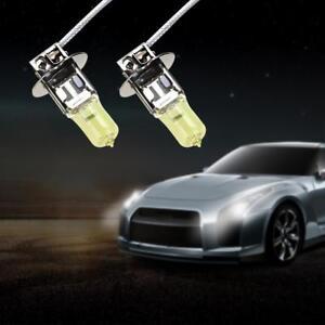2pcs H3 12V 55W Yellow Halogen Xenon Light Bulbs for Car Auto Headlamp Headlight