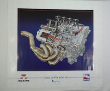 2003 Chevy Indy V8 Engine Cut Out IRL IndyCar Collector Poster Indianapolis 500