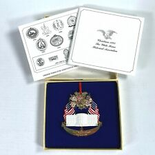 1995 THE WHITE HOUSE Historical Association CHRISTMAS ORNAMENT with original box
