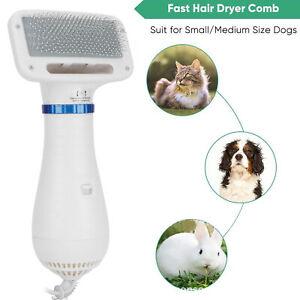 Low Temperature 2-In-1 Portable Pet Hair Dryer Comb Cat Dog Grooming Blower EU