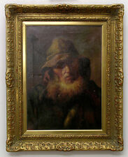 ALICE GRANT *1879-1907 / OLD MAN WITH BEARD - Excellent Old English Oil Painting