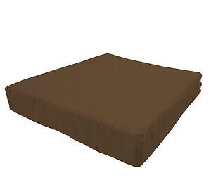 mb67t Light Brown Flat Velvet Style 3D Box Sofa Seat Cushion Cover*Custom Size*
