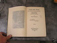Lives And Times Four Informal American Biographies 1925