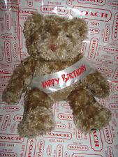 """BUILD A BEAR WORKSHOP SINGING HAPPY BIRTHDAY BEAR PLUSH STUFFED BROWN 14"""" CUTE"""