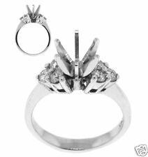 0.51ct ENGAGEMENT RING (Semi-Mount) 14kt WHITE GOLD