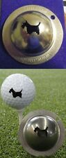 1 ONLY TIN CUP GOLF  BALL MARKER - SCOTTY THE TERRIER - YOURS FOR LIFE & EASY