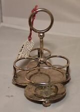 Royal Air Force (RAF) Officer's Mess Condiment Cruet.  Silver Plate