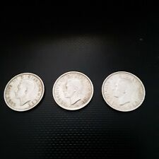 British Sixpence Silver Coins 1941 - 41 - 43 50% silver