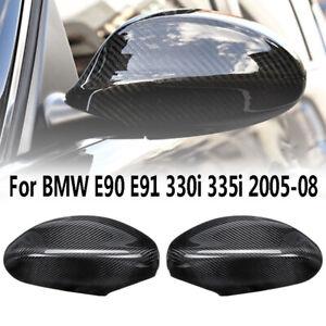 1Pair Carbon Fiber Mirror Cap Cover Replacement for BMW E90 E91 E92 E93 PRE-LCI