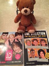 One Direction BRAND NEW Ultimate Fan Books and Teddy Bear