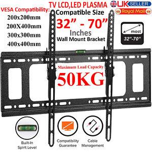 TILT TV Wall Bracket Mount Slim for 32 40 42 50 55 60 65 70 Inch Plasma LED LCD