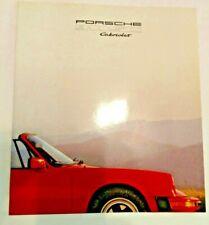 PORSCHE 911SC CABRIOLET BROCHURE - 1983  SHIPS FREE
