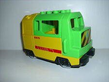 LEGO DUPLO Eisenbahn 1 E - Lok grün-rot-gelbe Güterlok (5609)