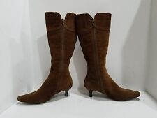 Ecco Womens Brown Suede Knee High Boots Size 37/6.5 M