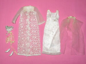 """Mattel - Vintage """"Dreamy Wedding"""" Francie Doll Outfit #1217 from 1967"""