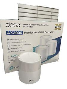 TP-LINK Deco X60 WiFi 6 AX3000 Whole-home Mesh Wi-Fi Single (1) Unit - White